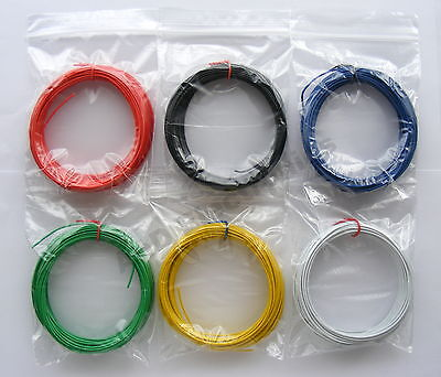 22 Awg Solid Wire (60m Equipment Wire Kit 1/0.6mm  22-23 AWG  6 Colours Single Solid Core WP-011717)