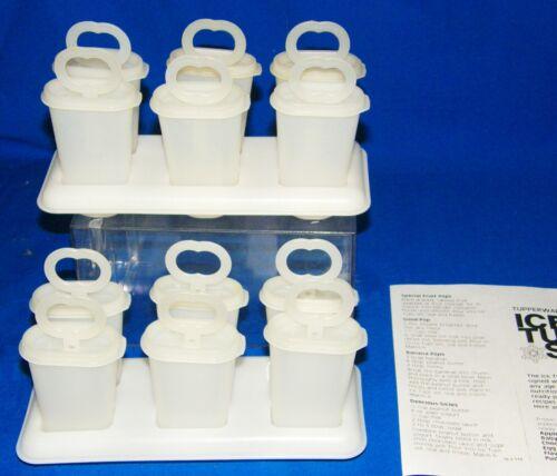2 Set Vtg Tupperware Ice Tups 12 Popsicle Molds 2 Tray 12 Sticks 12 Tops RECIPES