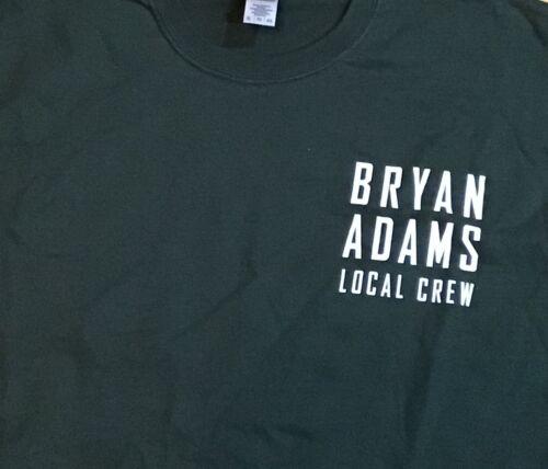 Bryan Adams 2019 Tour Local Crew T Shirt Forrest Green