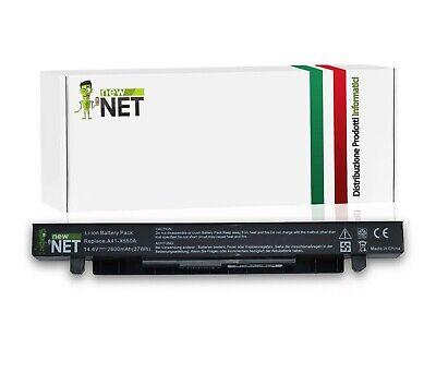 Batteria A41-X550A compatibile Asus X55L82H F552M Output: 14.4V - 2600mAh (37Wh)