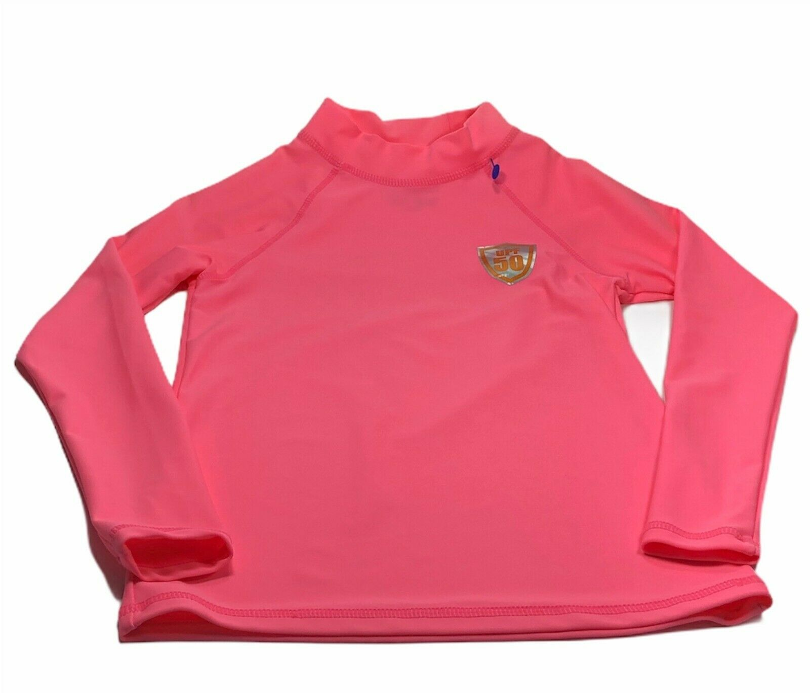 Ingear Swim Girls Long Sleeve Rash Guard UPF 50 Pink Surf Sh
