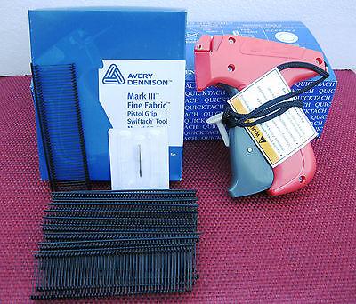 10312 Avery Dennison Fine Fabric Price Tagging Gun 5000 1 Black Barbs