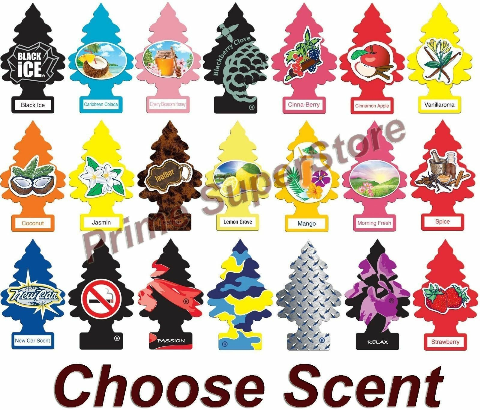Little Trees Hanging Air Freshener Choose Scent Car Truck RV