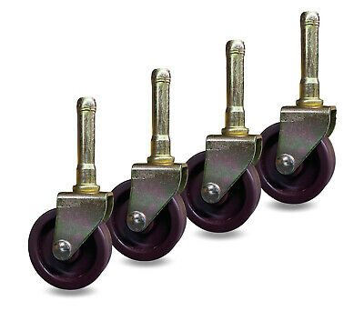 Bed Frame Metal Stem Wheel Casters - Set Of 4