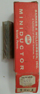 12 Uh Bw Miniductor 3004 Vintage Air Core Inductor 2 12 Dia 32 Tpi 24 Awg