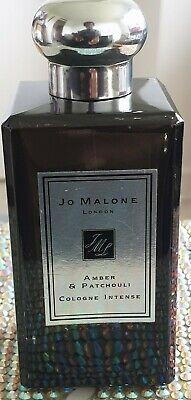 Jo MALONE LONDON AMBER & PATCHOULI INTENSE SPRAY 100 ml USED 90% FULL NO BOX