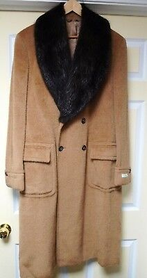 Men wool coat and nutria hat. New.Italian size 54R , 44R US.