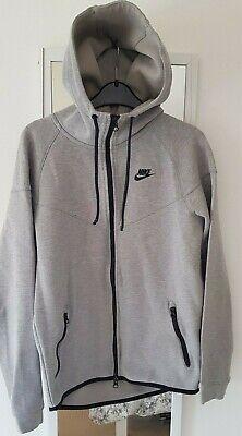 Small mens Nike grey zipped hoodie