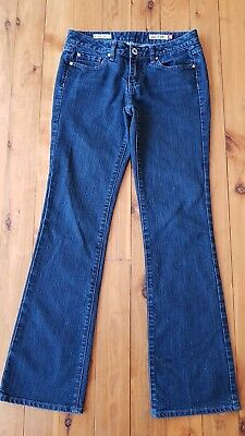 JAG JEANS Dark Navy Mid Rise Reg Fit Boot Cut Stretch Jeans Size 10