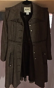 Beautiful Structured Brown Long Jacket - Size M