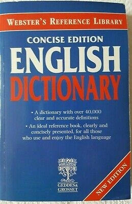Websters Concise Edition English Dictionary Paperback Book