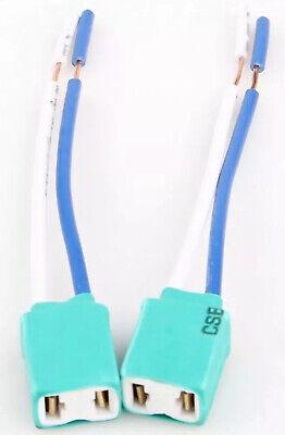 2x Ceramic H7 Headlight Connector Plug Socket Pair DC12V / 24V 12cm Cable Loom