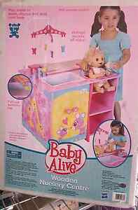 """""""ALMOST GONE"""" BABY ALIVE WOODEN NURSERY CENTRE BRAND NEW Lara Outer Geelong Preview"""
