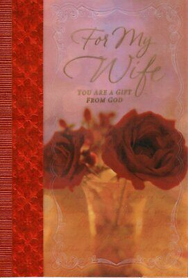 Happy Birthday Wife You're A Gift From God - Red Roses - Hallmark Greeting Card  Happy Birthday Red Roses