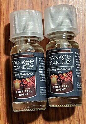 Yankee Candle Crisp Fall Night Home Fragrance Oil Set (.33oz) Lot of 2