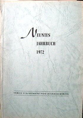 Neuntes Jahrbuch 1972 Kreis Merzig Saar Honzrath Saarhölzbach Dagstuhl..