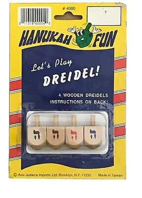 """Spin A Dreidel (Hanukah Wood Dreidel Spinning Top, Hebrew Letters Mean """"A Miracle Happened)"""