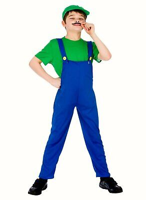 Boys Luigi Mario Brothers fancy dress costume Outfit - Mario Brothers Outfits
