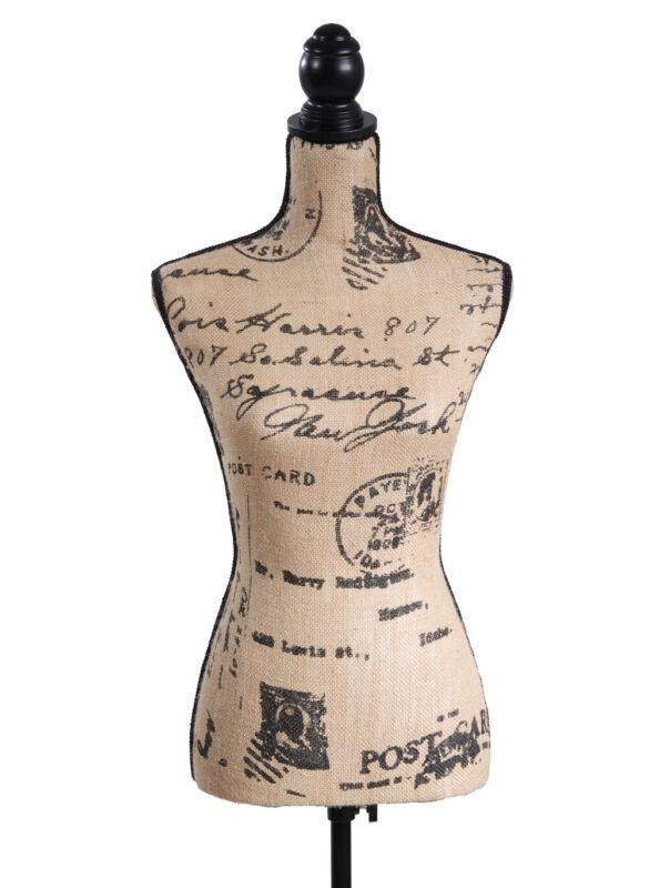 Female Mannequin Torso Dress Form Black Tripod Stand Dress Jewelry Display