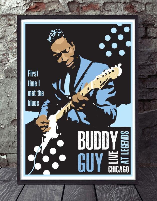 Buddy Guy unframed chicago blues poster specially designed print