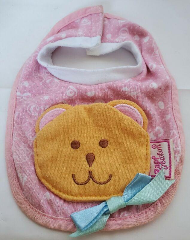 Zapf Creation Baby Doll Pocket Bib Pink Bear