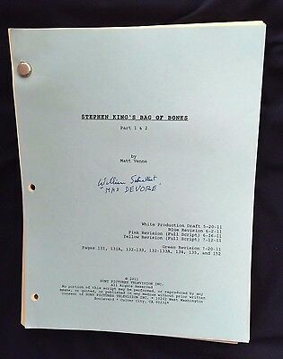 William Schallert Signed Script Stephen King Bag of Bones w/ Call Sheets & More!