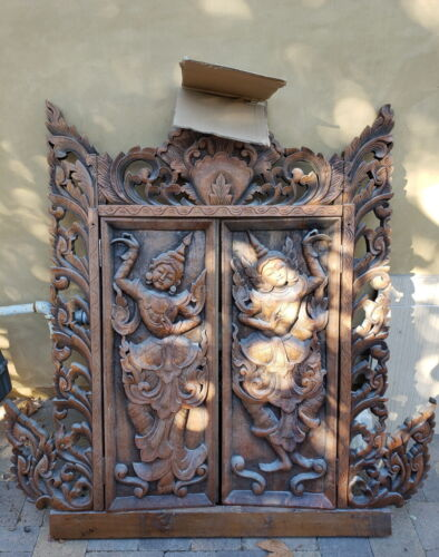 Large wood carving from Thailand