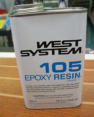 West System 105 Epoxy Resin  Quart  655-105A  WEST4U