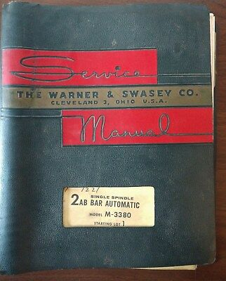 Warner Swasey Single Spindle 2ab Bar Automatic Model M-3380