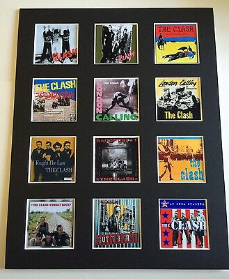 "THE CLASH 14"" BY 11"" LP COVERS PICTURE MOUNTED READY TO FRAME"