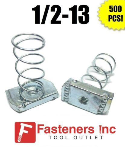 """(#4125) P1010 EG 1/2""""-13 Spring Strut Nuts for Unistrut / B-Line Channel 500/BOX"""