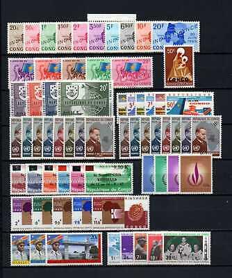 Belgisch Congo Belge - Rep. Congo Kinshasa Collection MH sets (4) c53.80Eu.