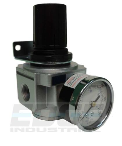 "AIR IN LINE PRESSURE REGULATOR 250 PSI HEAVY DUTY FOR AIR COMPRESSORS, 1/2"" NPT"