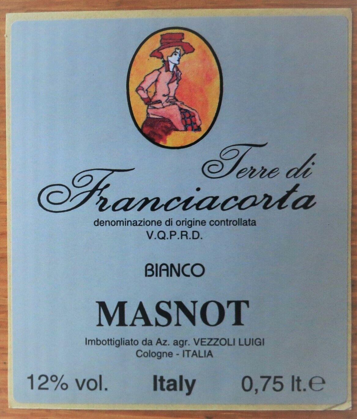 Etichette vino ITALIA TERRE DI FRANCIACORTA Bianco MASNOT  wine labels