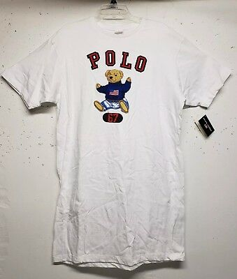 NWT POLO RALPH LAUREN BEAR 67 T-SHIRT Short Sleeve EXTRA LONG STREET/SLEEP WARE