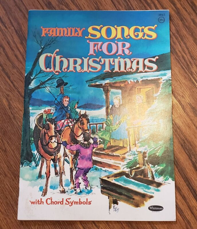 "VINTAGE ""FAMILY SONGS"" FOR CHRISTMAS SONG BOOK WITH CHORD SYMBOLS WHITMAN 1962"
