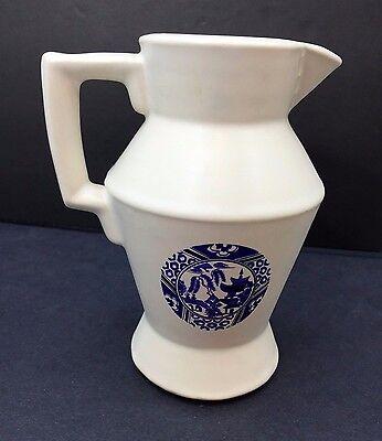 Vintage McCoy Pottery White Creamer Blue Japanese Design #335