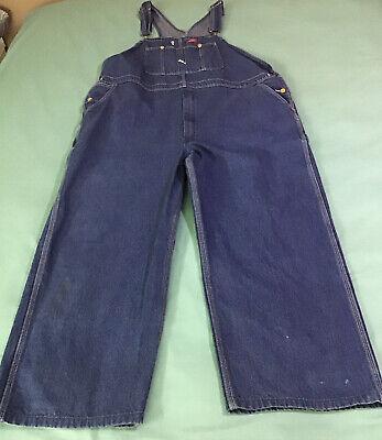 Vintage Overalls & Jumpsuits DICKIES DENIM BIB CARPENTER OVERALLS MEN'S -50 x 30. MEDIUM WASH $17.50 AT vintagedancer.com