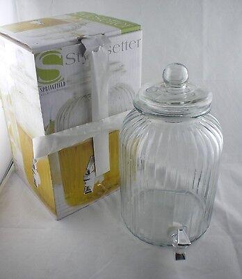 Stylesetter Springfield 1.38 Gallon Glass Beverage Dispenser Sweet Tea Lemonade