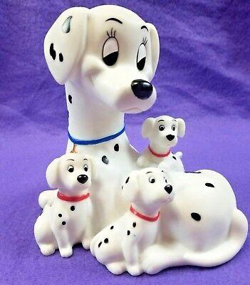 Disney 101 Dalmatians Perdy & Puppies Vintage Rubber Coin Piggy Bank