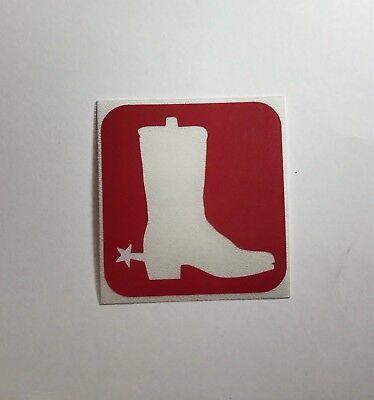 Cowboy Boot Glitter Tattoo Stencil - 15 Stencil Pack