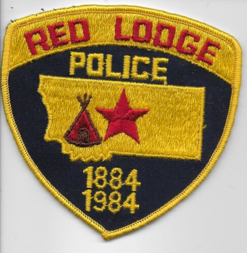 Vintage Red Lodge Police State Montana MT Colorful