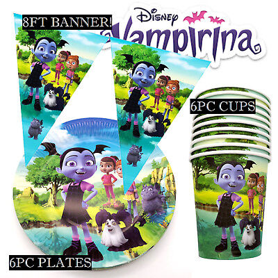 😻 VAMPIRINA BALLOON PARTY SUPPLIES BANNER plates CUPs CAKE TOPPERs decorations