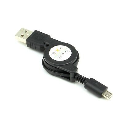 New Micro USB Retractable Charger Charing Cable Lead for Powerbank Power Bank