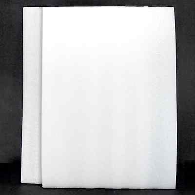 2x Foam Sheet 16 X 12 X 1 Wweight Saving Pockets White Firm Polyethylene