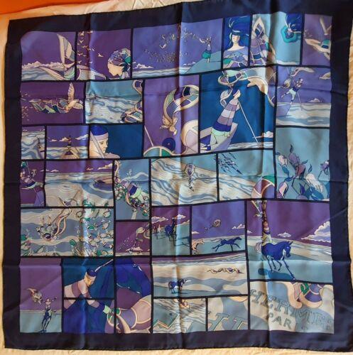 Foulard hermès / carré / hermes scarf / «soie libre» / v.jamin 90x90