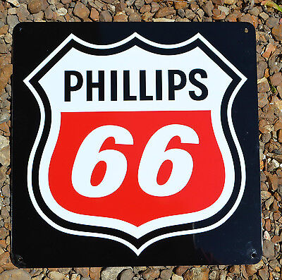 Phillips 66 Metal Gas Station Pump Sign Union 76 Advertising Garage Mechanic 10D