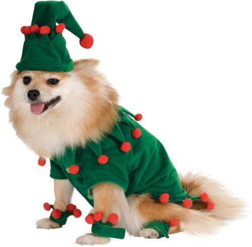 Elf Dog Costume - MEDIUM - Shirt, Hat, Ankle Cuffs - Holiday - Christmas - NWT