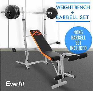 Fitness Multi-Station Weight Bench Press 40KG Barbell Set Inc Brisbane City Brisbane North West Preview