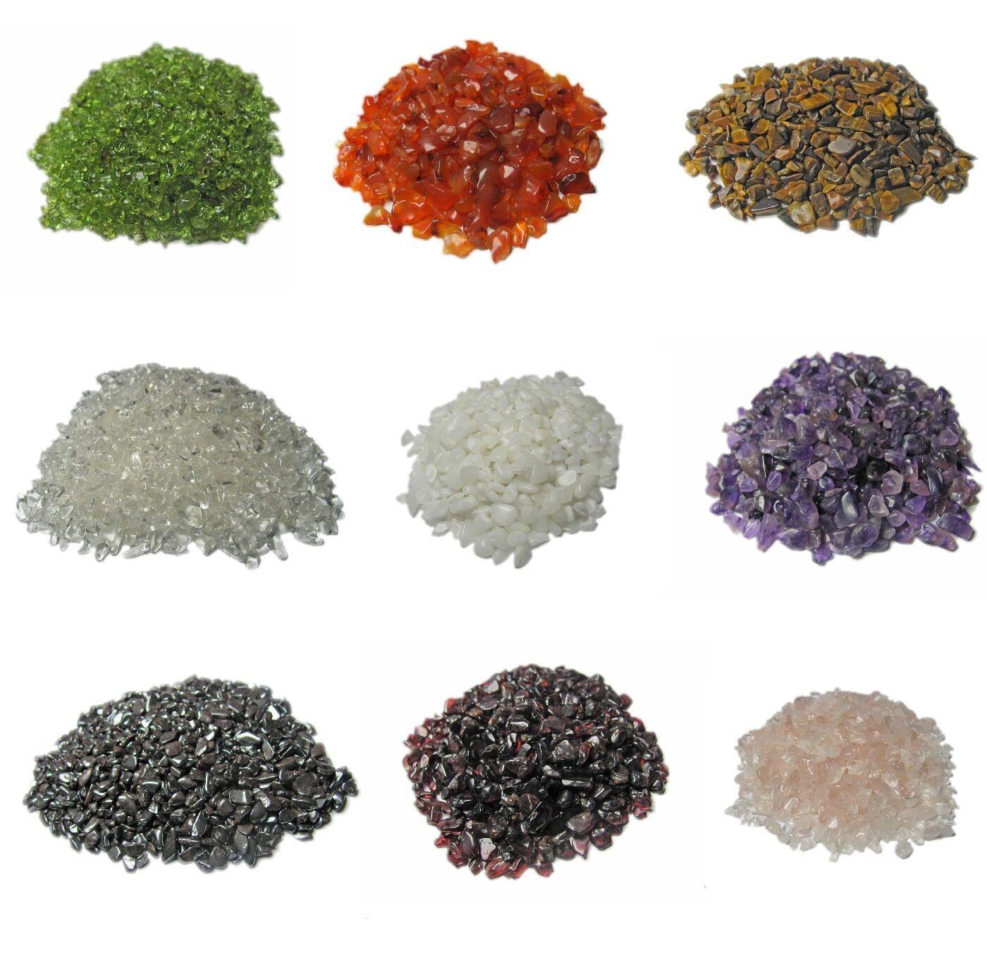 Mini Trommelsteine, Edelstein Granulat, Micro Trommelsteine 50 - 500 Gramm